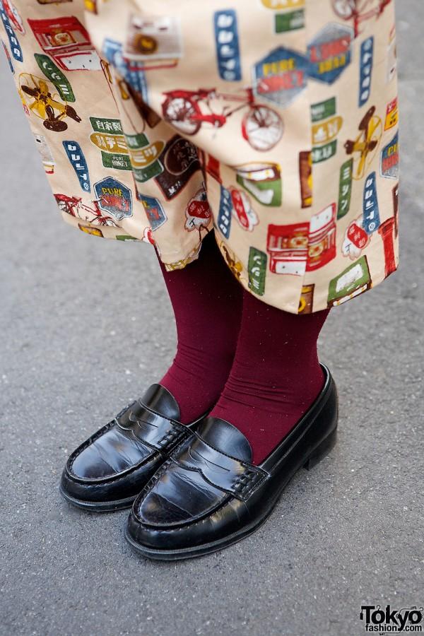 Black Loafers in Harajuku