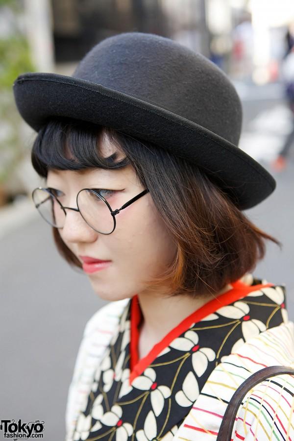 Bowler Hat & Glasses
