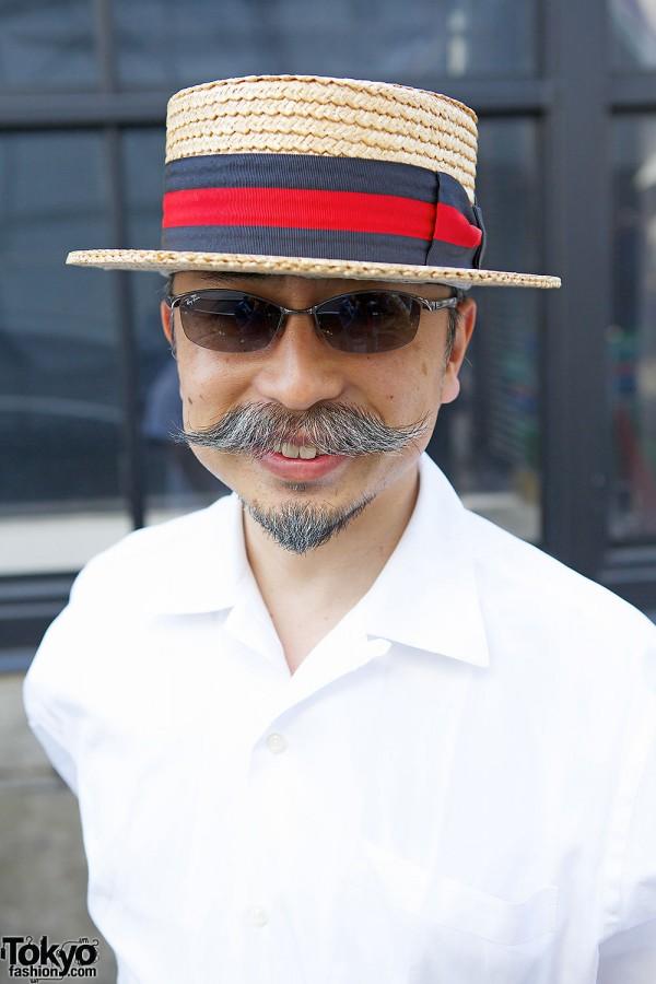 Boater Hat & Sunglasses