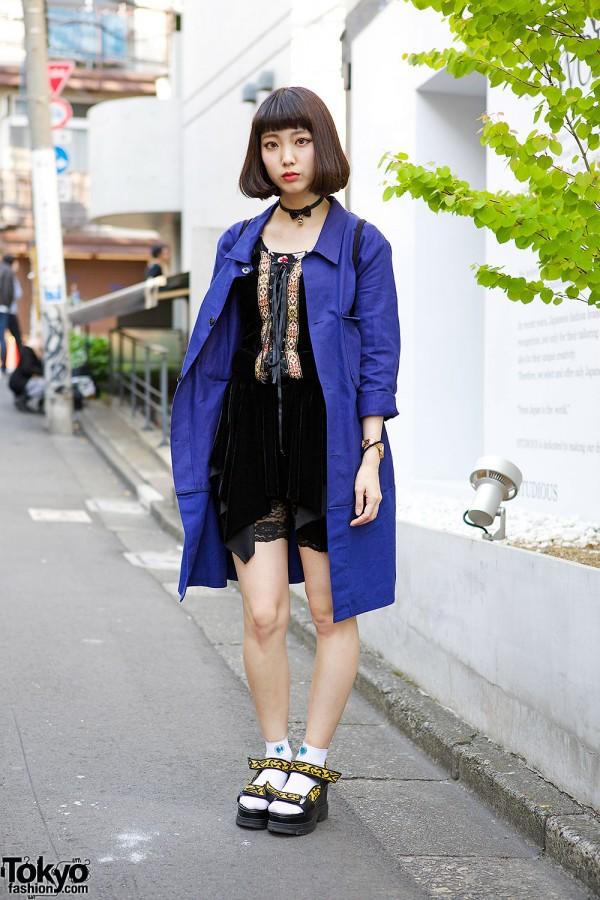 Kinji Trench Coat & Bubbles Dress