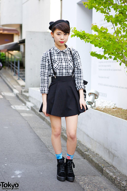Vanquish Shirt & H&M Skirt in Harajuku