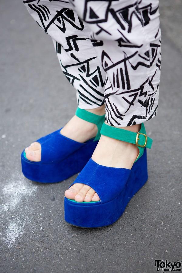 WEGO Colorblock Platform Sandals
