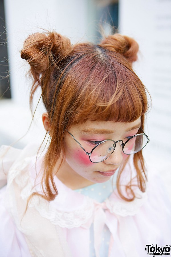 Japanese Twin Buns & Glasses