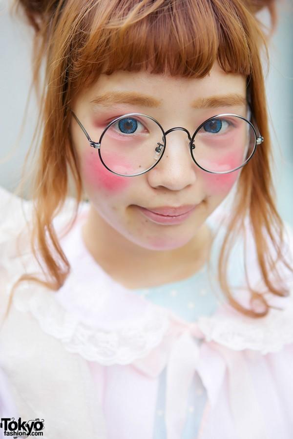 Glasses & Cult Party Kei Makeup