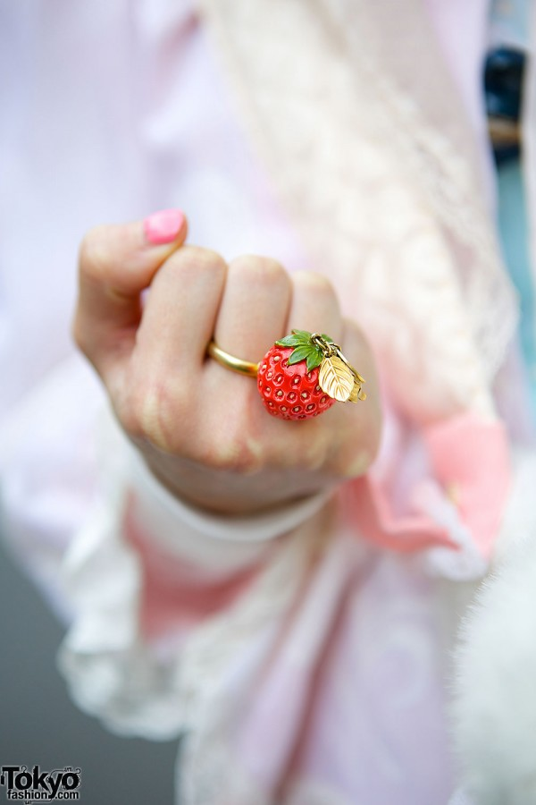 Strawberry Ring by Pink House Harajuku