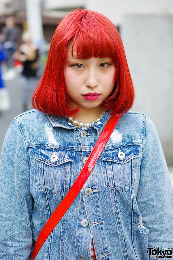 Red Bob & Resale Denim Jacket
