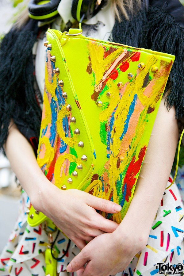 H&M Painted Clutch