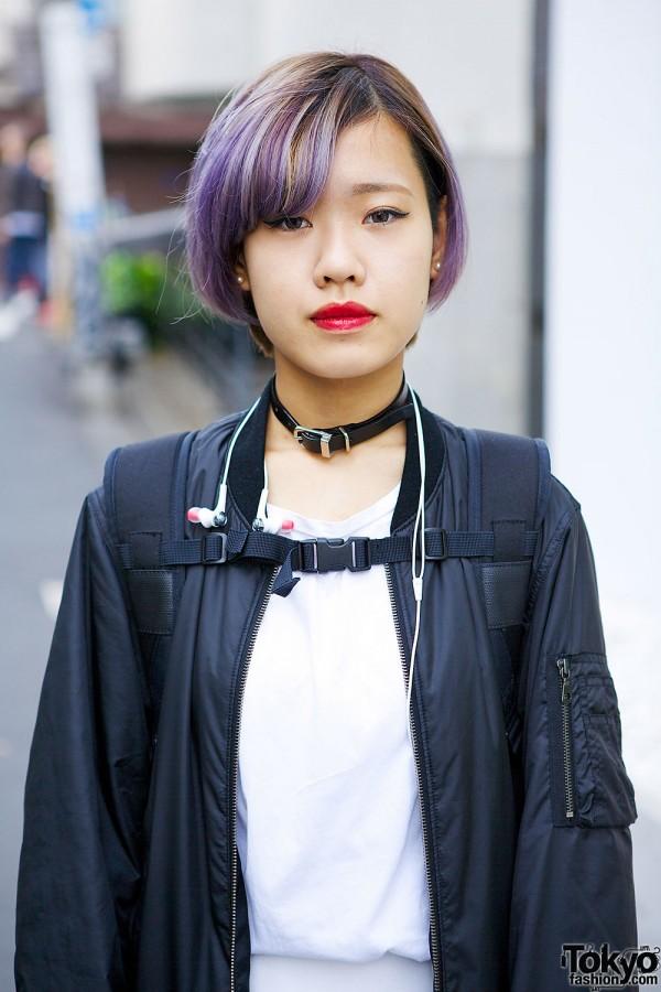 Lilac Hair & Bomber jacket