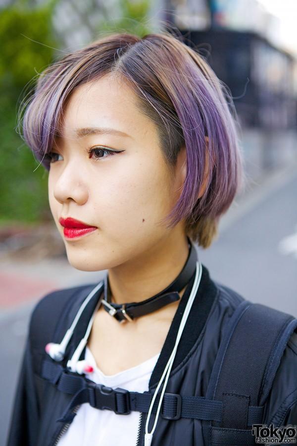 Lilac Hair & Bubbles Choker