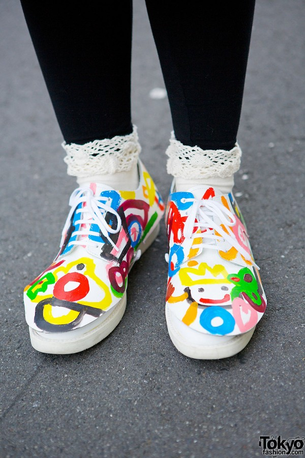 Comme des Garcons Painted Sneakers