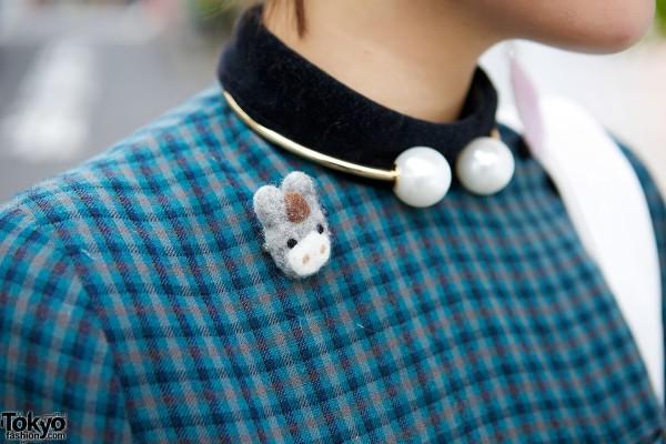 Choker & Animal Pin