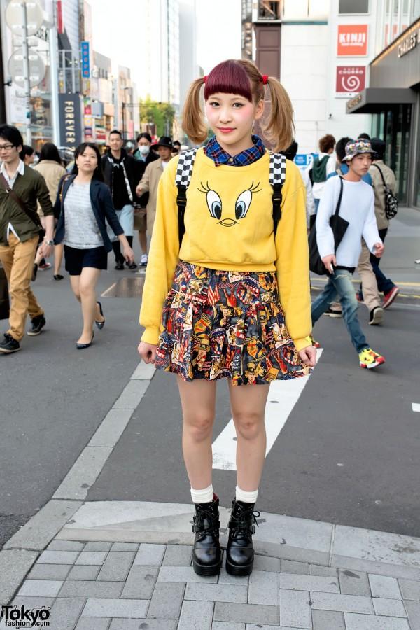 Tweety Bird Sweatshirt & Spinns Skirt
