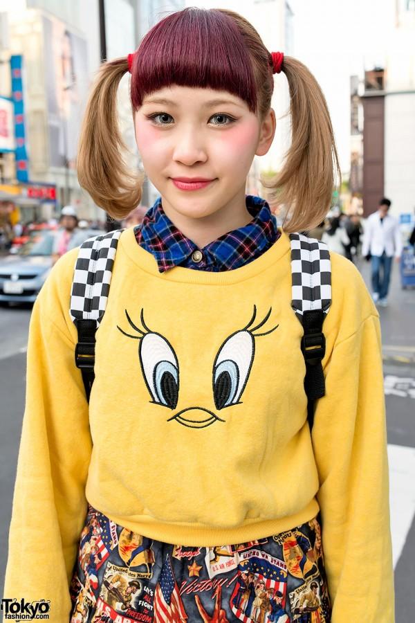 Twin Tails & Tweety Bird in Harajuku