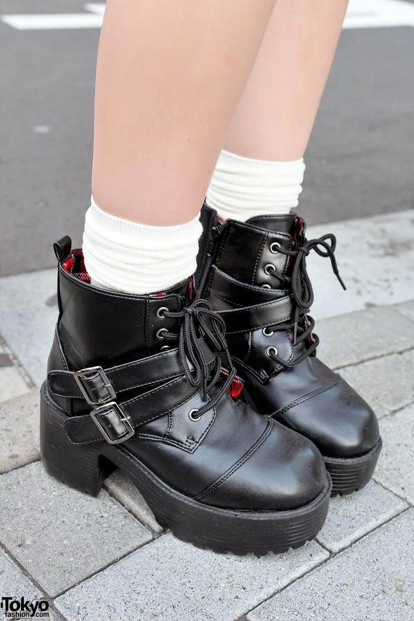 Platform Boots in Harajuku