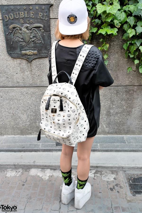 MCM Backpack & Unif Dress in Harajuku
