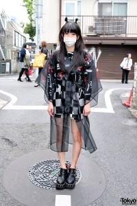 Bubbles Harajuku Sheer Jacket