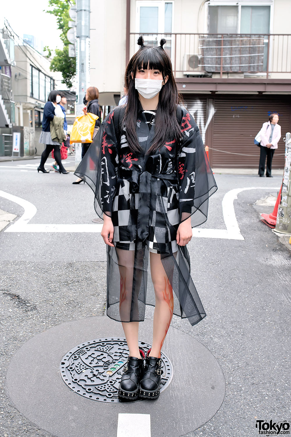 Bubbles Harajuku Sheer Jacket
