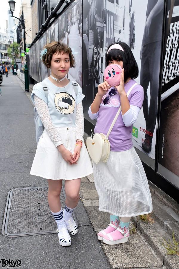 Harajuku Girls in Platform Sandals