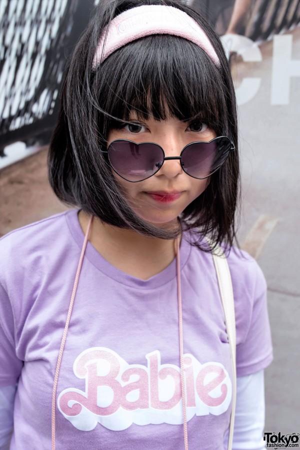 Heart Glasses & Bubbles Harajuku Top