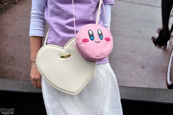 Heart Purse and Smiley Face Bag
