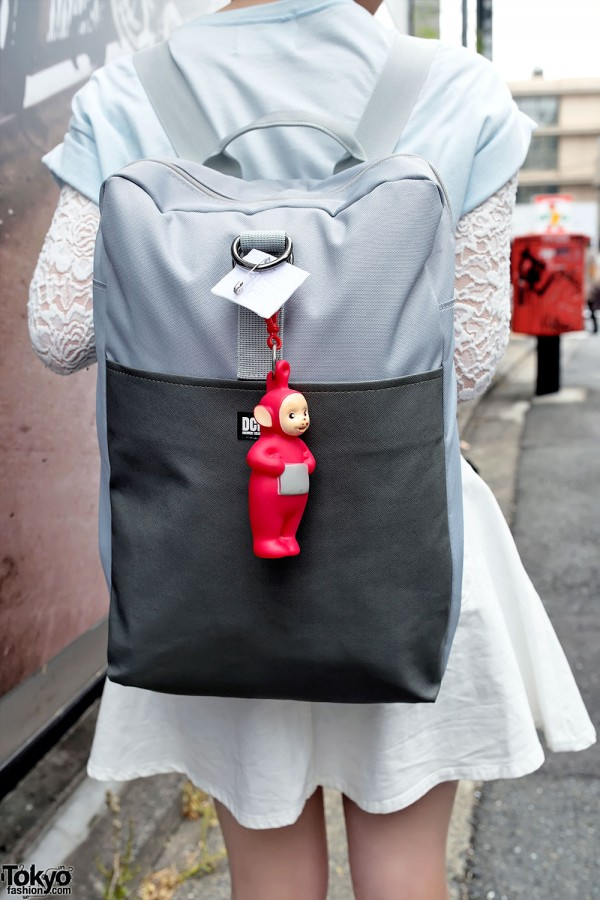 Teletubby Backpack in Harajuku