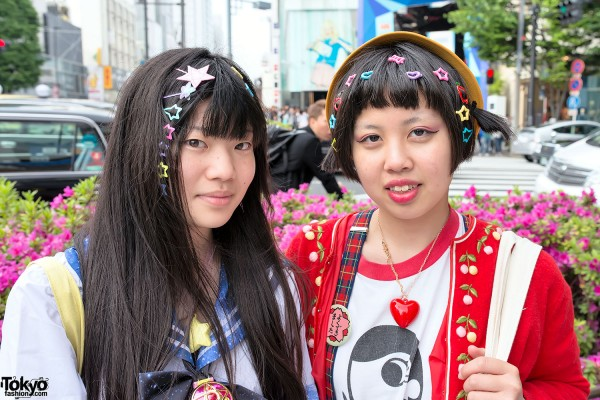 Colorful Hair Clips in Harajuku