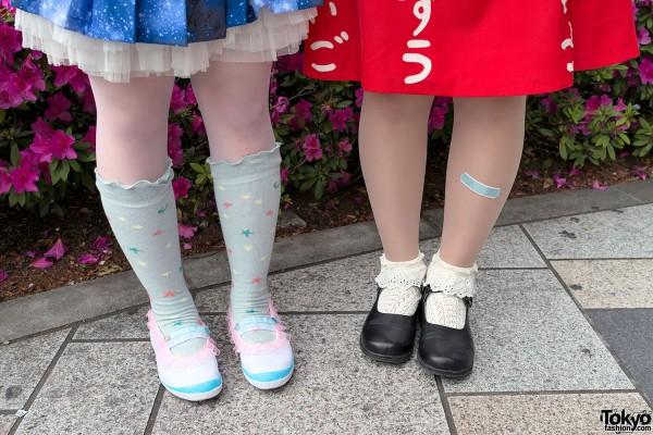 Socks & Flats in Harajuku