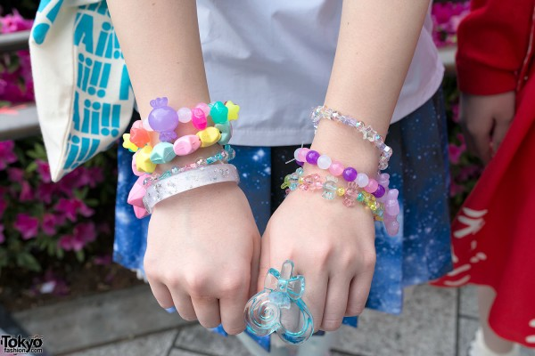 Colorful Bracelets & Ring in Harajuku