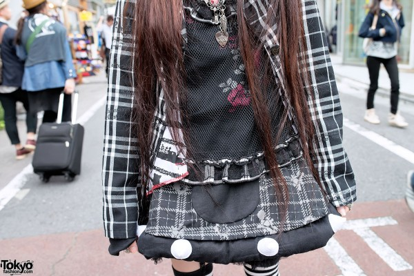 Puffy Plaid Skirt by h.NAOTO