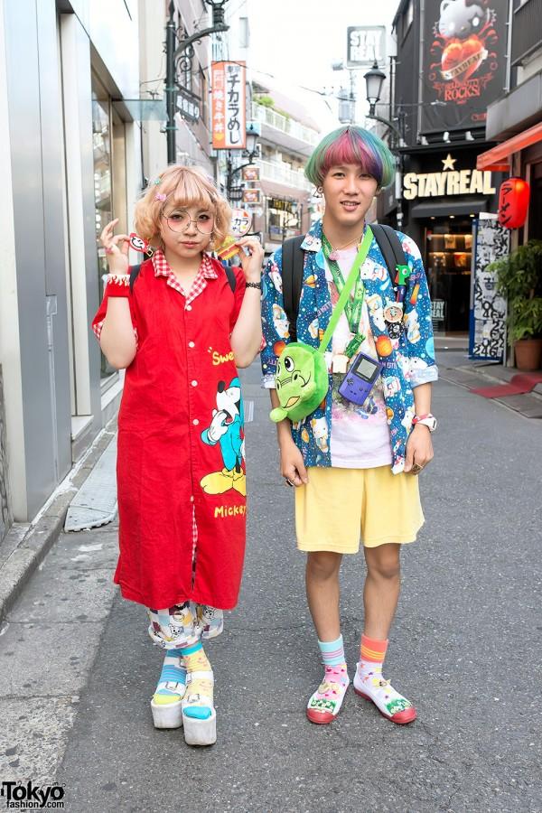 Mickey Mouse x Hello Kitty Fashion in Harajuku
