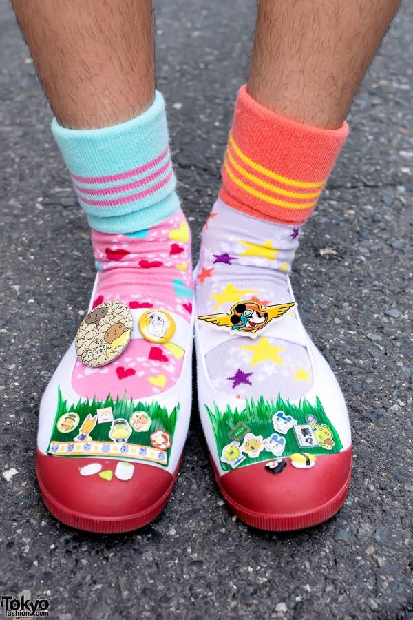 Mismatched Socks & Kawaii Slippers