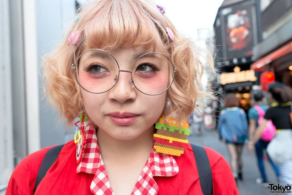 Cute Bow Hair Clips & Round Glasses