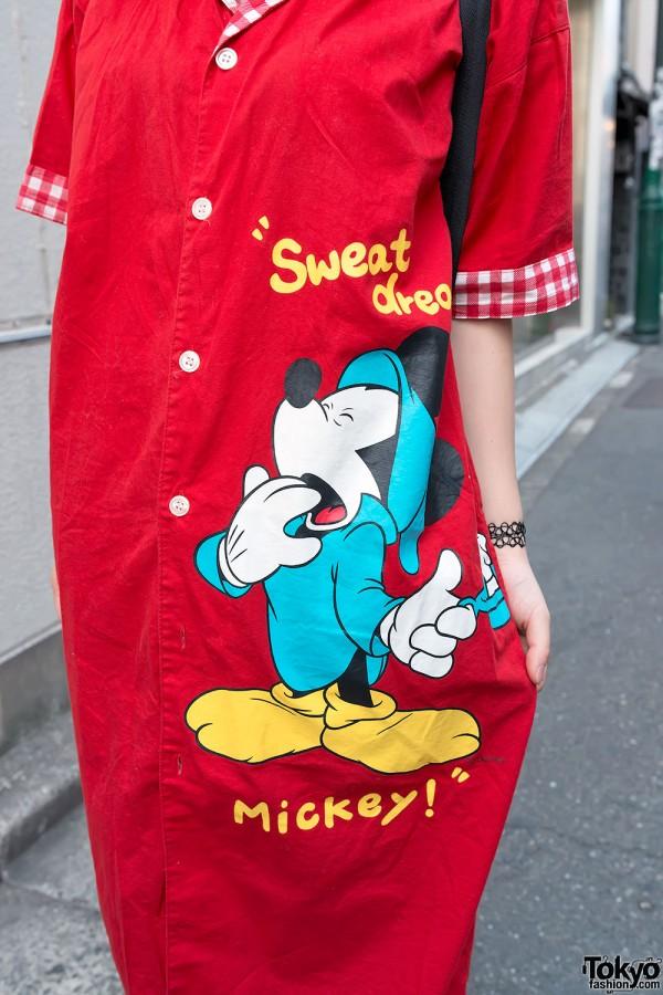 Harajuku Mickey Mouse Dress