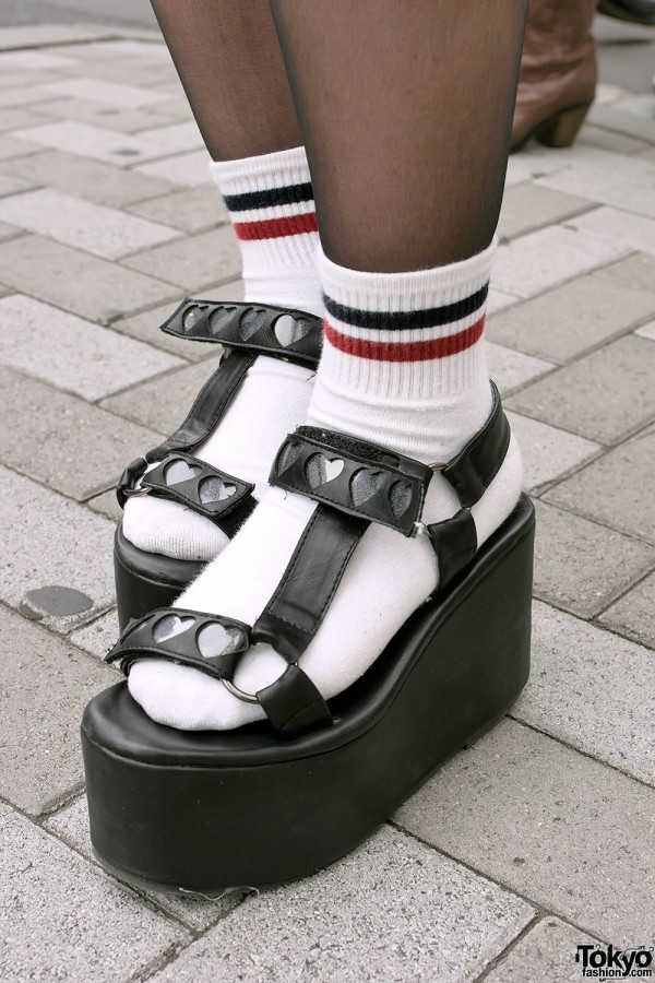 LDS Heart Platform Sandals