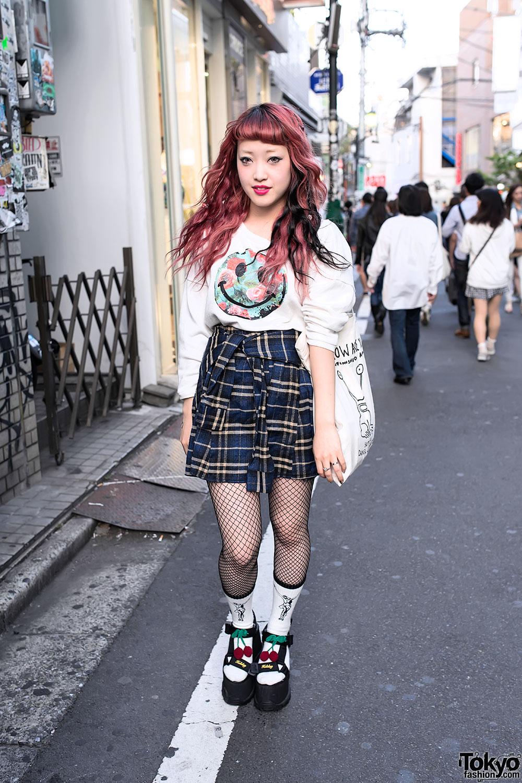 Fishnets & Nadia Harajuku Skirt