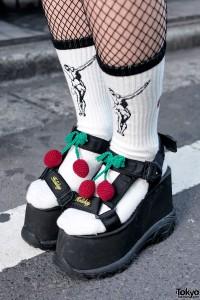 K3&co Platform Sandals with Cherries