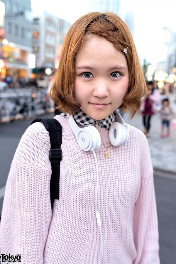 Snidel Sweater & Headphones