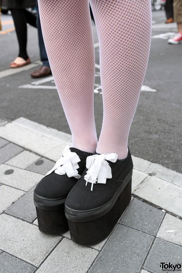 Fishnet Stockings & Platform Sneakers