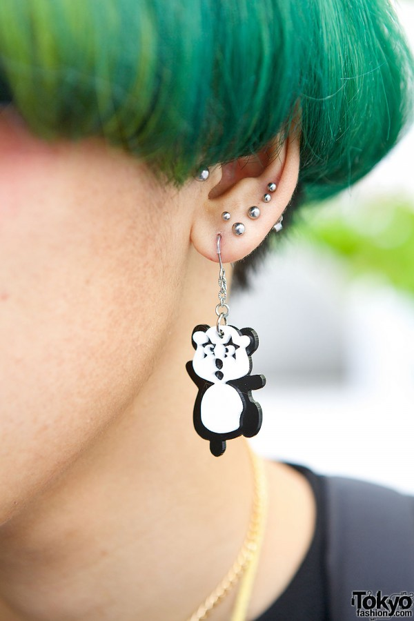 Kawaii Panda Earring