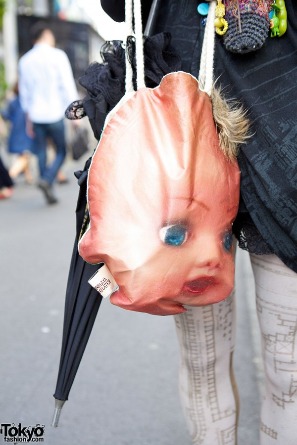 Bunkaya Zakkaten Doll Head Bag