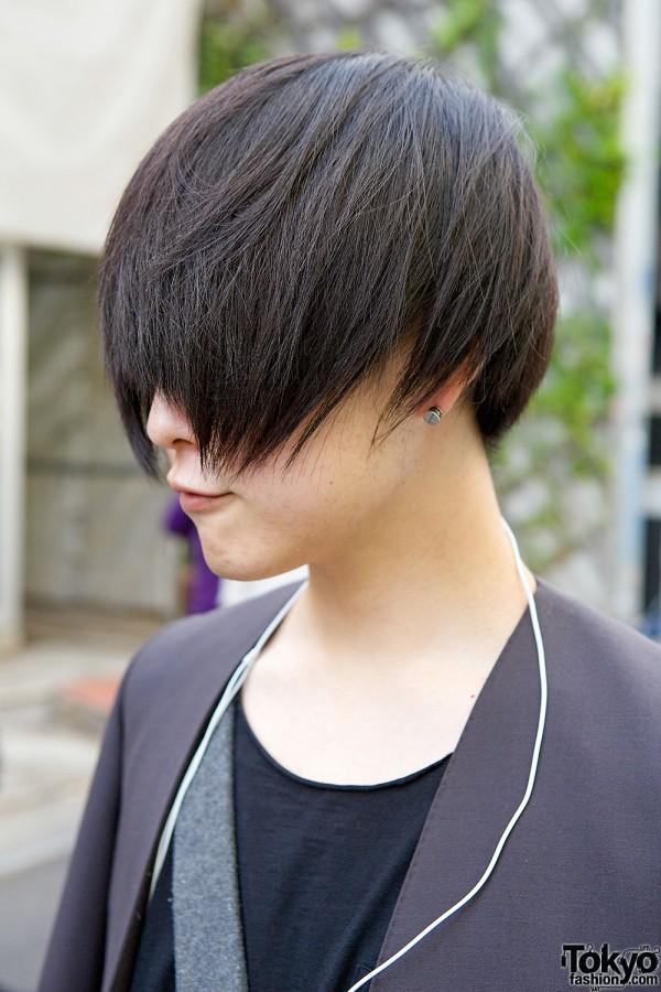 Japanese Long Bangs Hairstyle