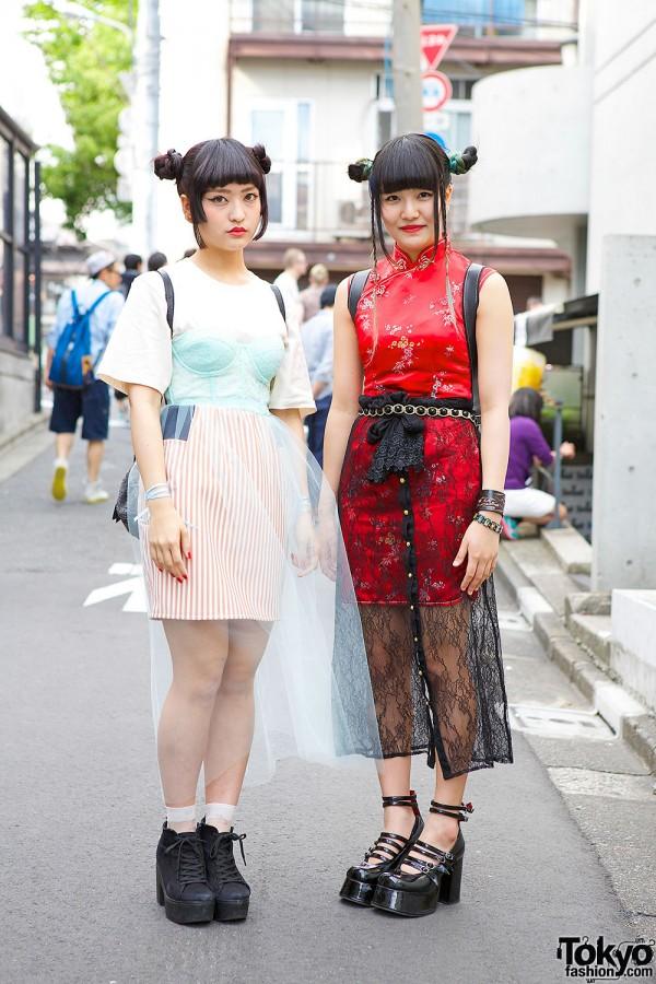 Harajuku Girls in Sheer Skirts