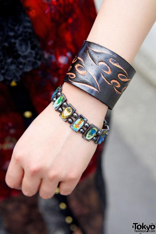 Leather & Icons Bracelets