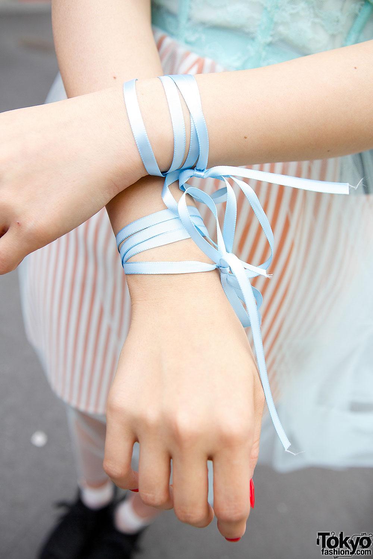 Harajuku Girls W Twin Buns Sheer Skirts Cheongsam