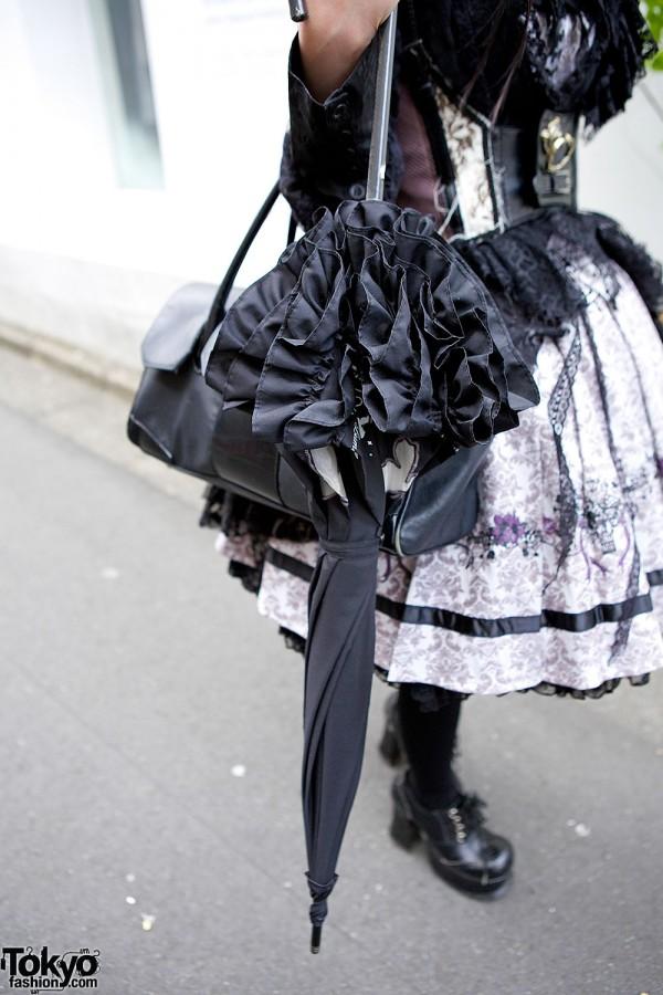 Gothic Ruffle Parasol