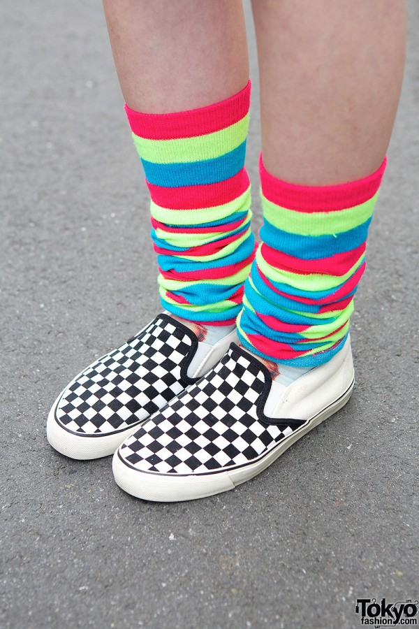 WEGO Slip-ons & Striped Socks