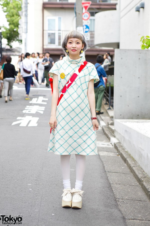 Pastel Hair, Mod Dress, Marimekko & Tokyo Bopper in Harajuku