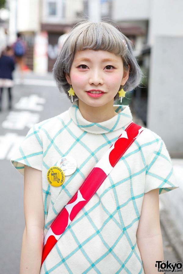 Pastel Hair & Star Earrings