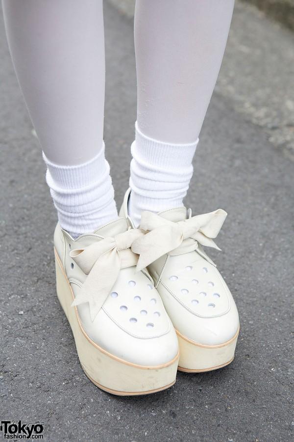 Tokyo Bopper Bow Platform Shoes
