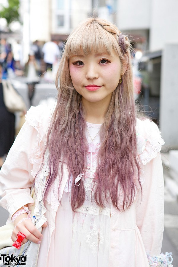 Dip Dyed Lilac Hair